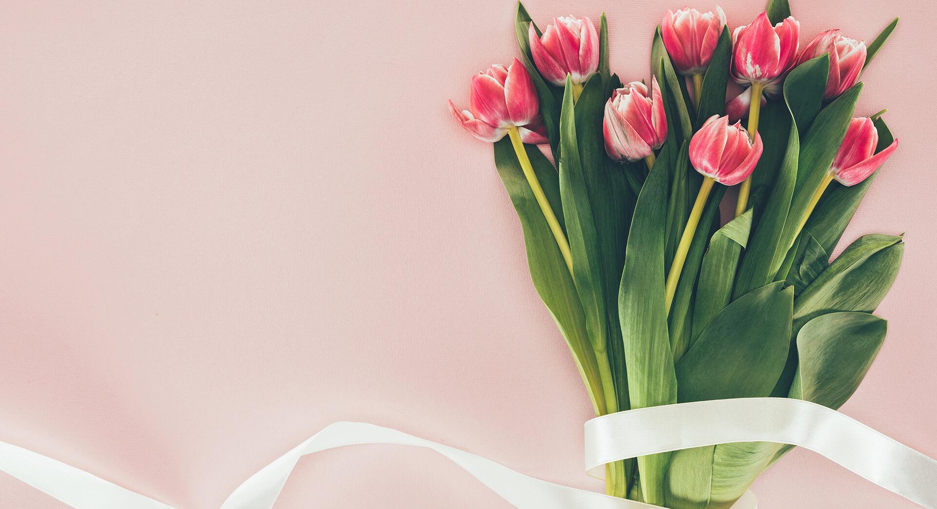 Букет с розови лалета